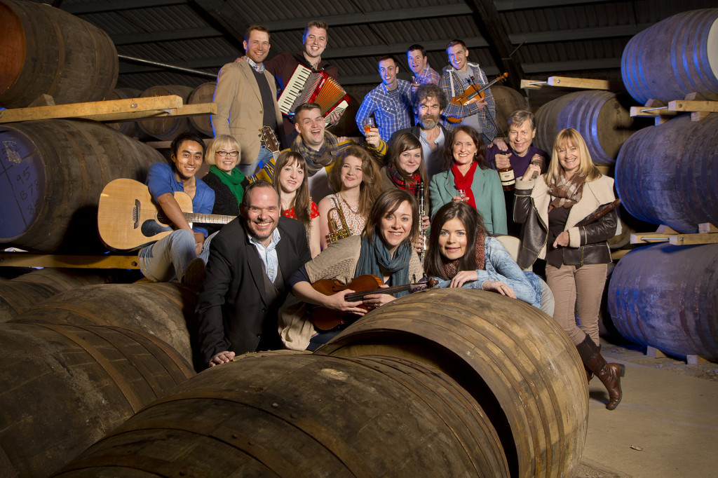 The 2014 PFT Summer Season cast at Edradour Distillery, Pitlochry
